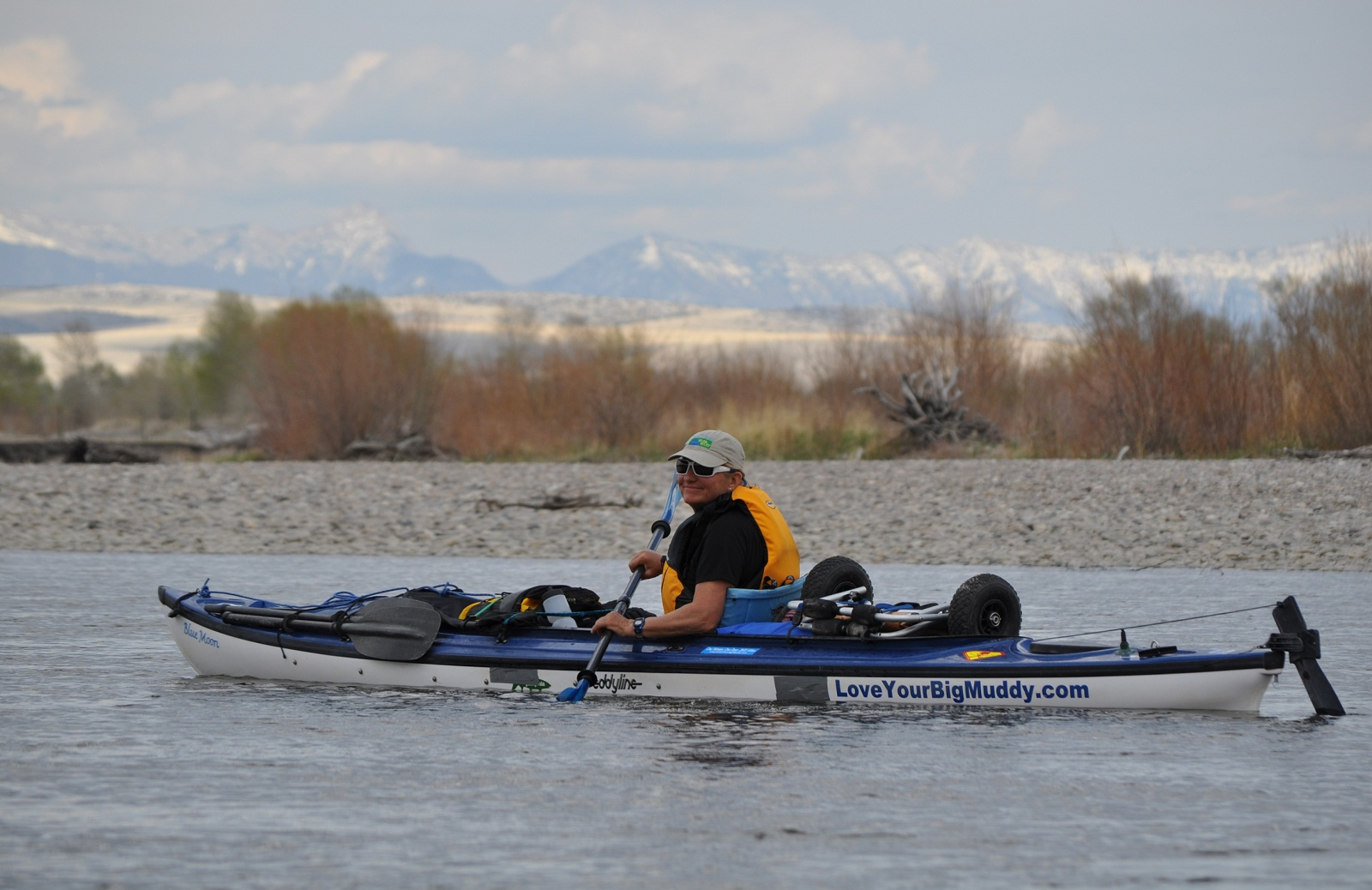 Janet on the Jefferson River in Montana. Photo by Norman Miller